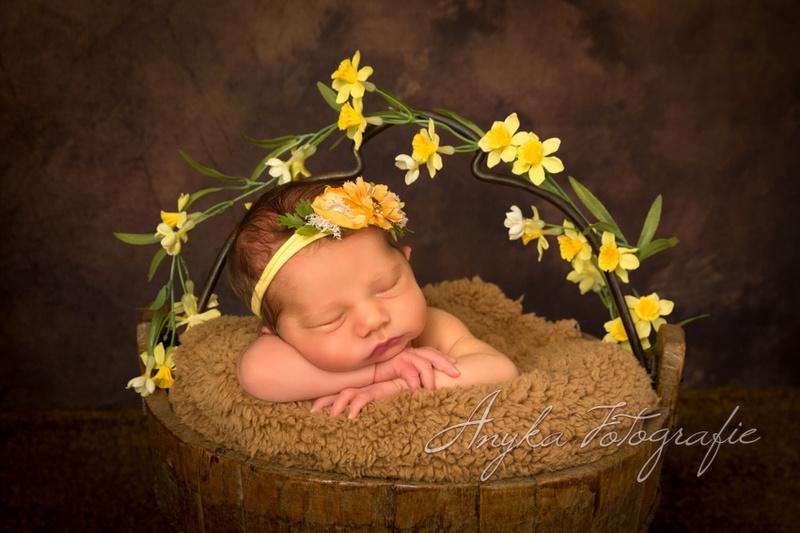 Lentebloemetjes voor een newborn meisje